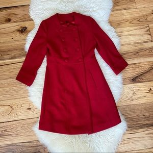 Le Chateau Wool Red Peacoat XXS